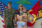 GySGT Danberry with Wife Tammy, Daughter Alexandria, & Son Zachary